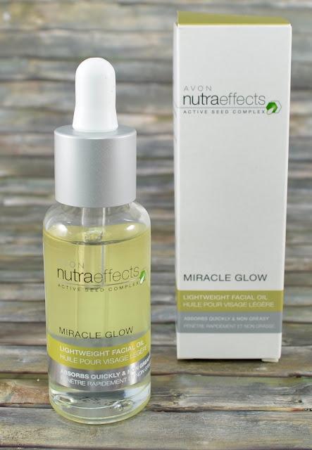 Avon nutraeffects miracle glow lightweight facial oil