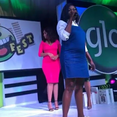 BYCKbx4hzib - ENTERTAINMENT: Funke Akindele Spotted With Baby Bump (Photos)