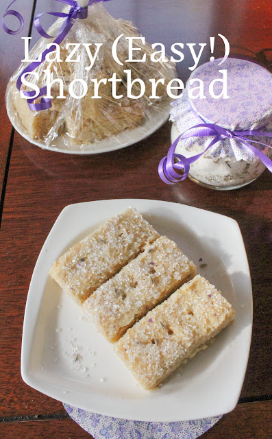 Food Lust People Love: Buttery and sweet, with just the right amount of resistance before it crumbles in your mouth, this lazy shortbread shaves minutes off the more traditional method. If the word lazy offends you, just call it easy.
