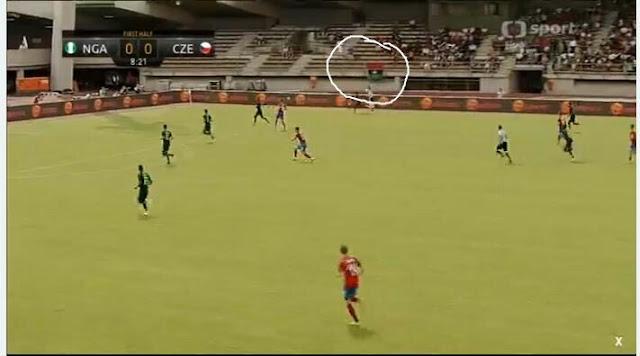 Nigeria vs czech republic friendly- Fans storm stadium with Biafra flag