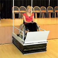 Mały podnośnik dla niepełnosprawnych