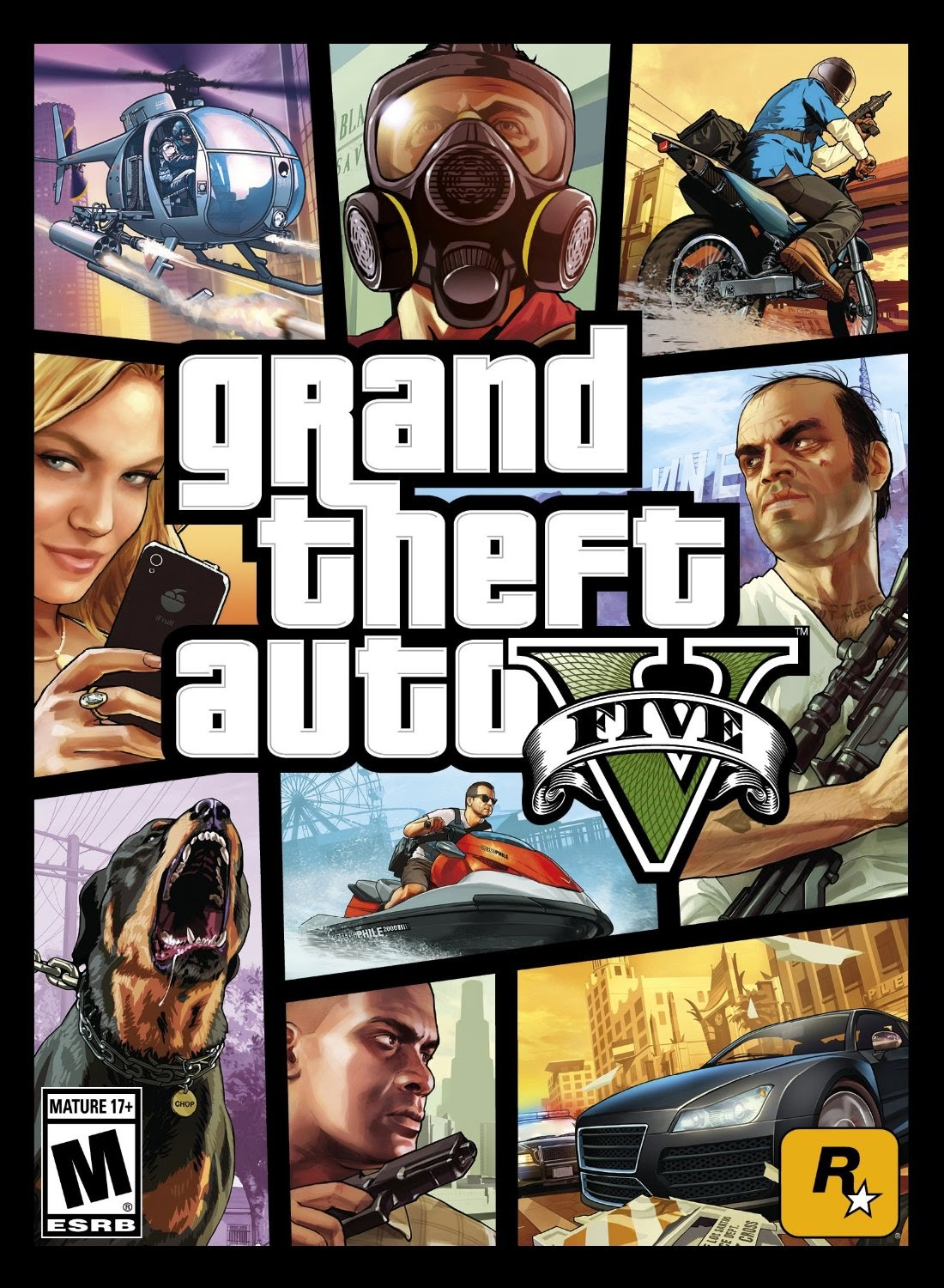 Descargar Grand Theft Auto V PC Cover Caratula-www.juegosparawindows.com