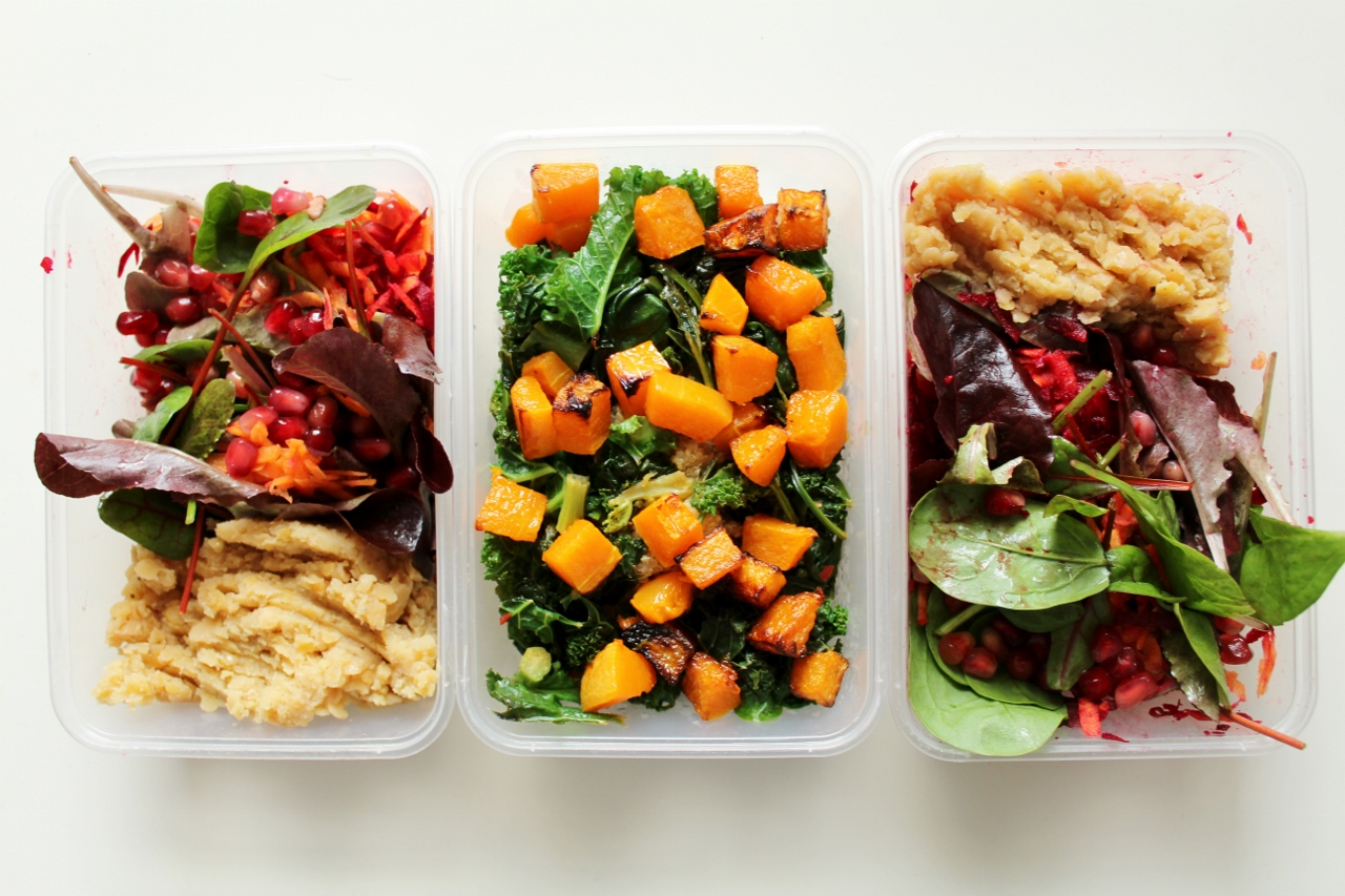 Healthy salads for lunch preparation