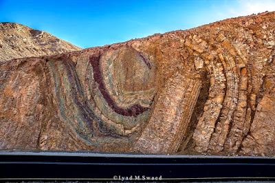 Folded beds at Eilat mountains, Israel
