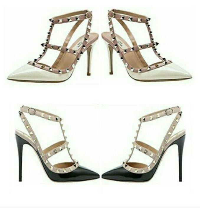 Women's High Heels Sandals with Pointed Toes - Slingback Shoes with Adjustable Ankle Straps