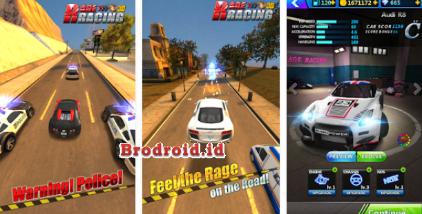 Download Rage Racing 3D Mod Apk v1.8.133 Terbaru Android