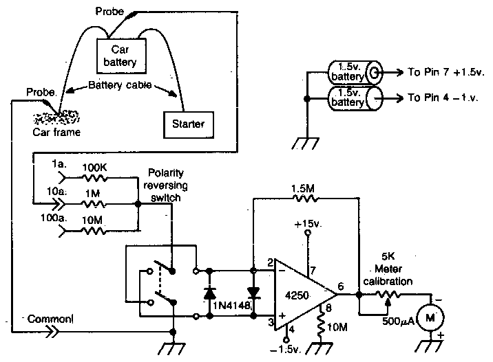 Schema Analyseur courant batterie auto