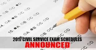 Civil Service Exam 2017