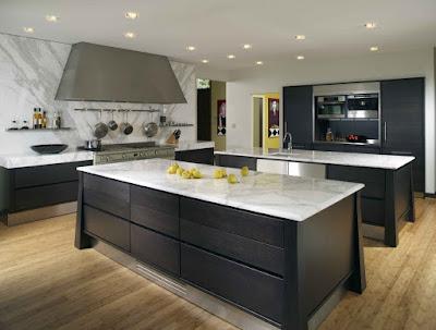 Desain Meja Dapur Dari  Batu Marmer Untuk Rumah Minimalis