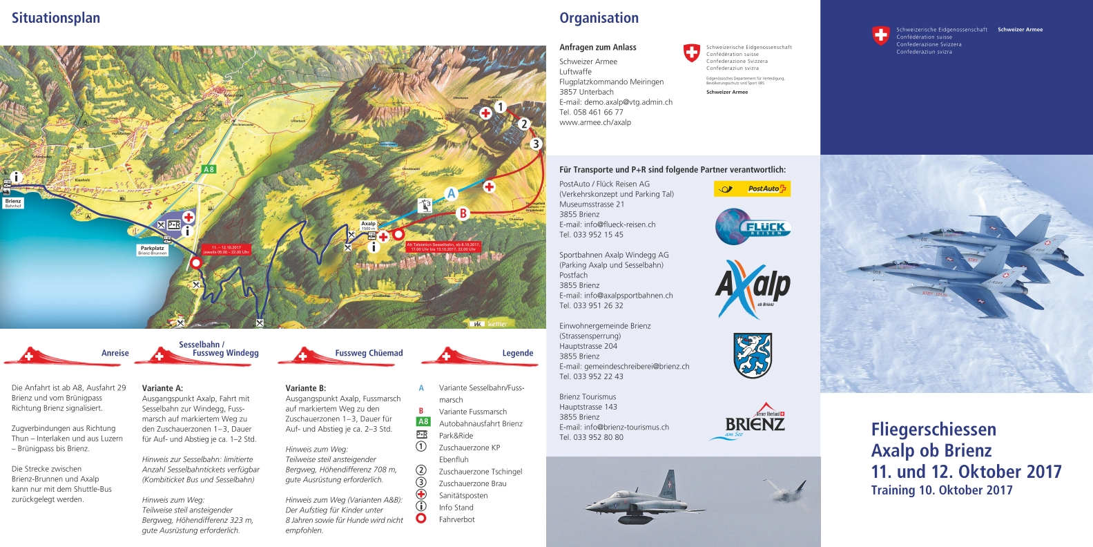 The Application Form For The Accreditation Of Media Representatives Is  Available On The Website For The Axalp Air Force Live Fire Event Above  Brienz; ...