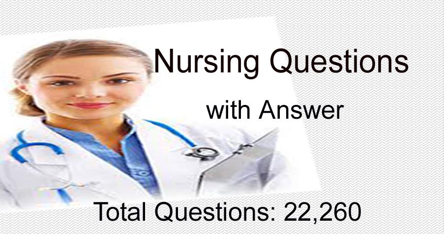 nursing written test sample questions  nursing question