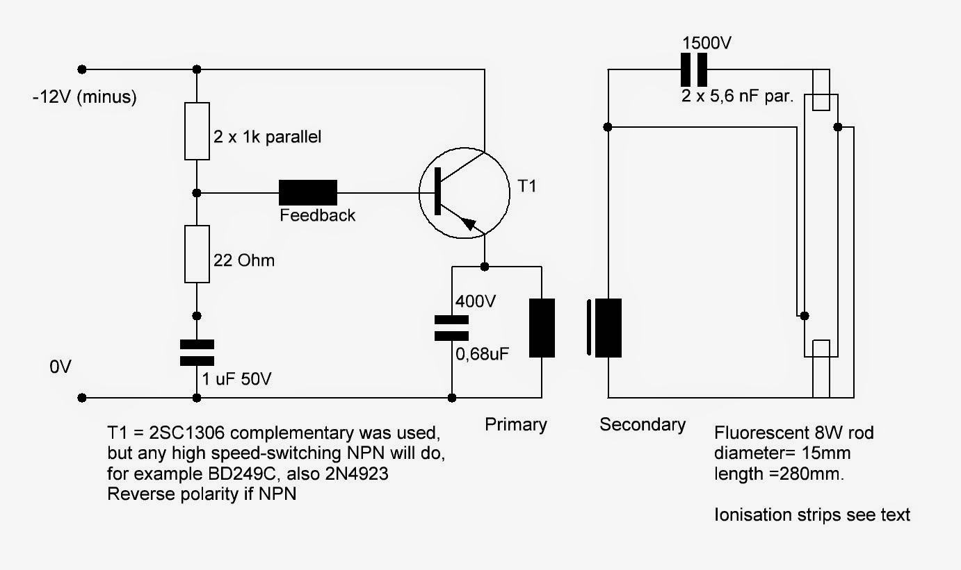 Electronics Circuit Application: Starting a fluorescent on