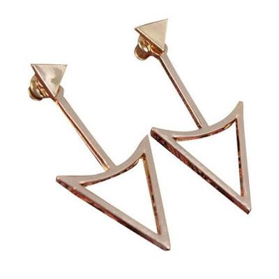 Triangle Gold Drop Earrings | Lookbook Store