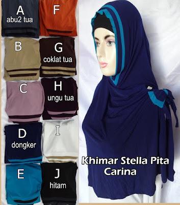 Model Jilbab Terbaru khimar Stella pita Carina