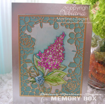 mothers day card lilac bouquet in watercolor front