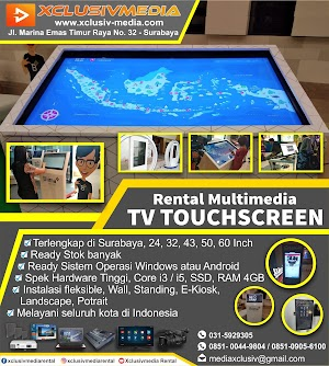 Jasa Rental TV Touchscreen Surabaya