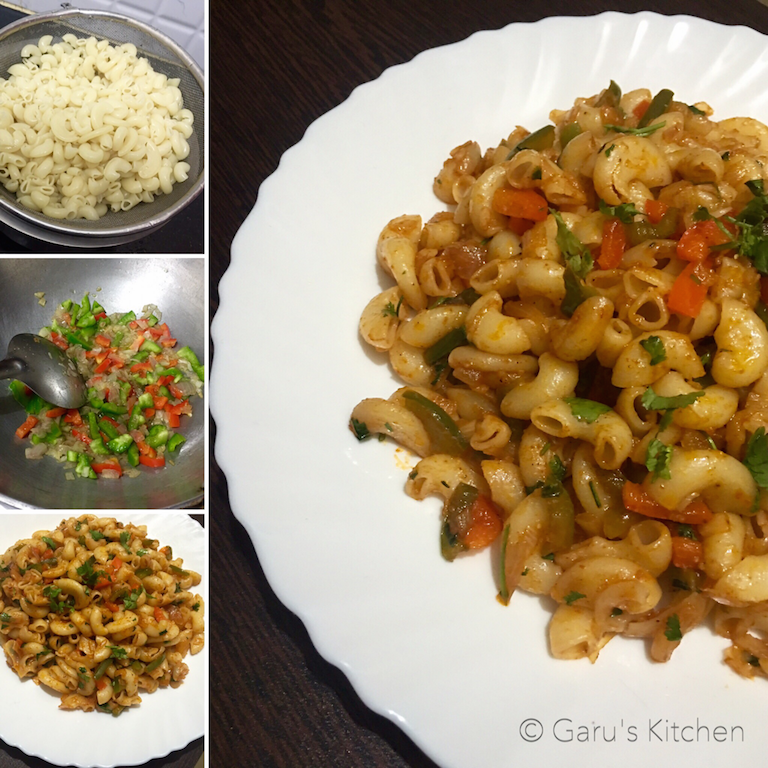 Indian Style Veg Macaroni Pasta Recipe
