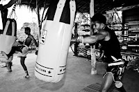buakaw trainging at banchamek gym