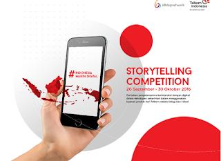 Kompetisi Bercerita Telkom `Indonesia Makin Digital Berhadiah Uang 37 Juta