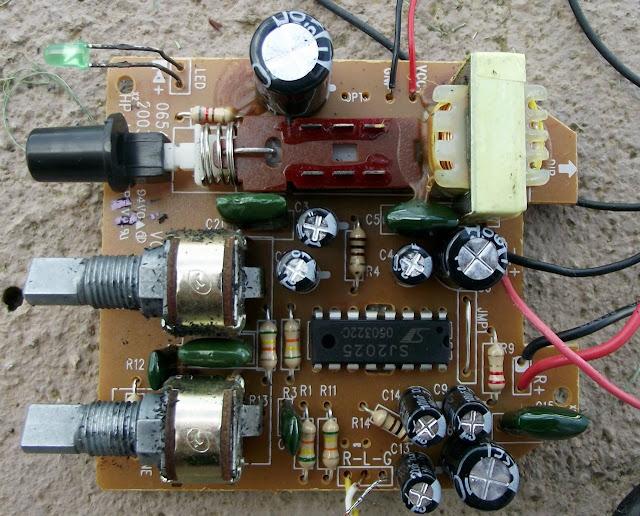 Amplificador da caixinha de som
