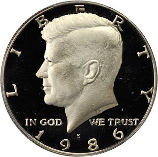 1986 Kennedy Half Dollar