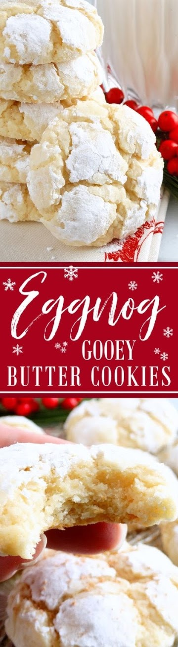 Eggnog Gooey Butter Cookies from scratch