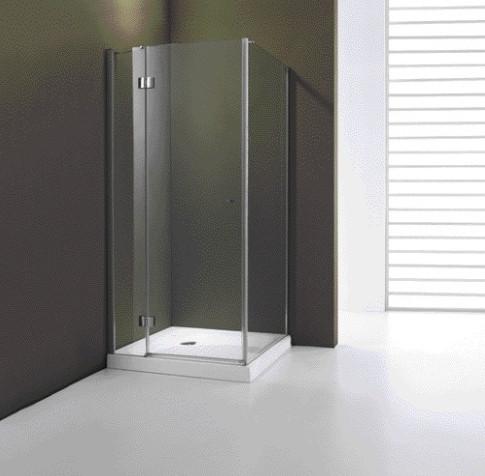 How the glass shower doors look