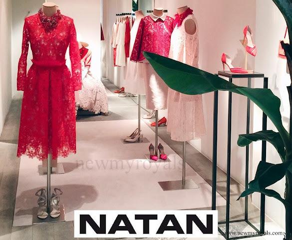 Queen Maxima wore Natan Lace dress