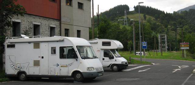 Àrea d'autocaravanes en Zestoa