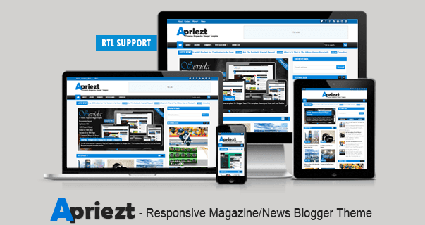 Free Download - Apriezt 1.2 – Responsive Magazine/News Blogger Theme