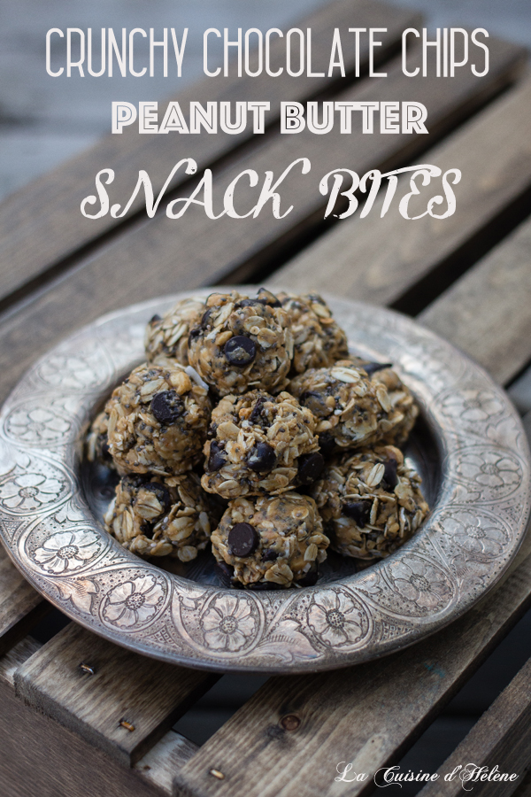 Crunchy Chocolate Chips Peanut Butter Snack Bites