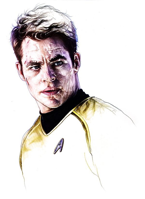 08-Chris-Pine-James-T-Kirk-Corbyn-S-Kern-Game-of-Thrones-Star-Trek-and-Star-Wars-Character-Drawings-www-designstack-co