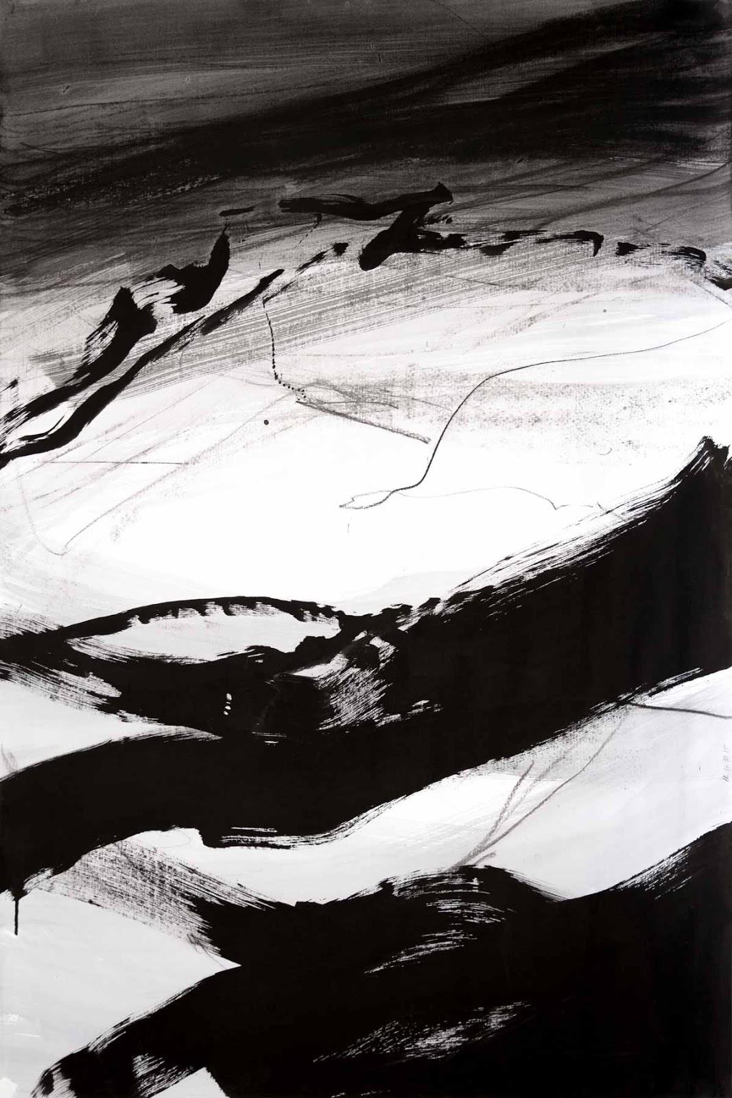80 x 120 cm, aquarelle, encre de Chine et fusain sur papier, 17 octobre 15