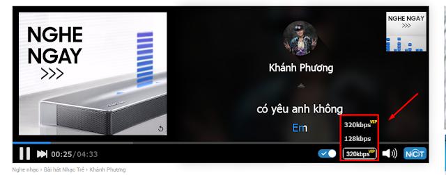 Chia sẻ acc Vip nghe nhạc 320kbps trên Nhaccuatui.com