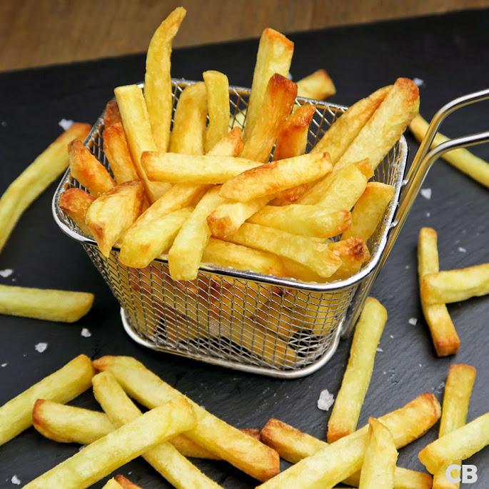 Zelfgemaakte verse friet