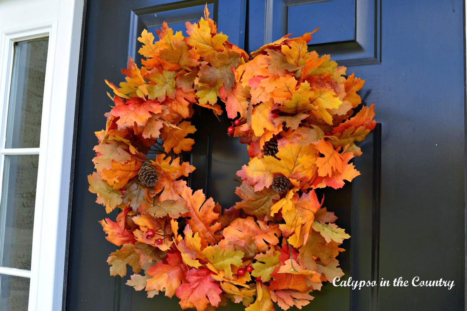 Fall Wreath on black door