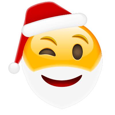 Winking Santa Emoji