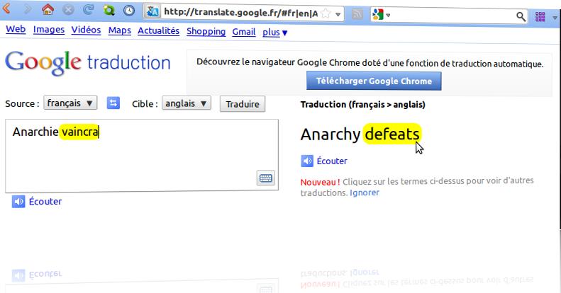 traduction anglais français google chrome