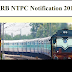 RRB NTPC Notification 2019