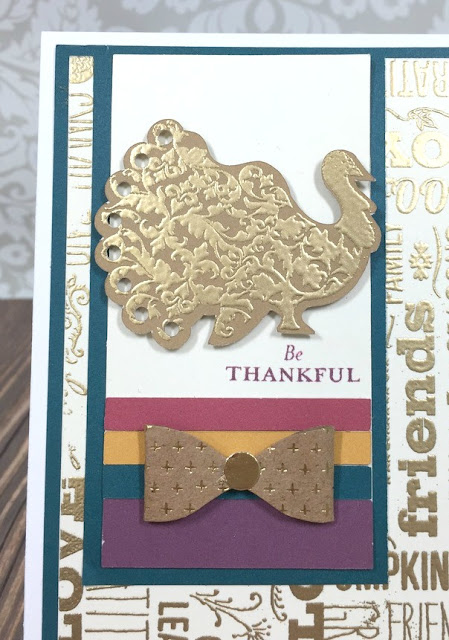 Cricut Artiste Thankful Turkey card