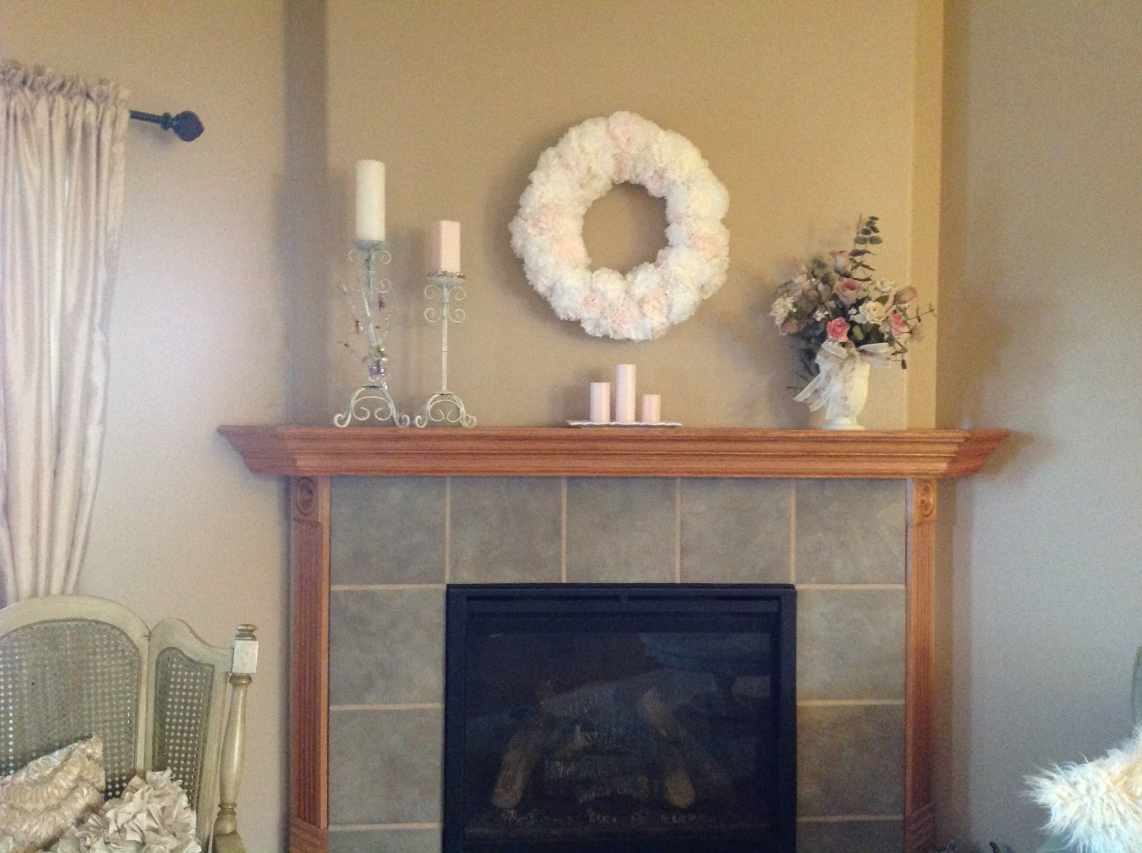 Natural Homemade Living Mantel Decorating For Spring Or Summer