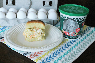 Veggie Egg Salad made with #AEdairy's Mr. E's Garden Vegetable Cottage Cheese #sponsored
