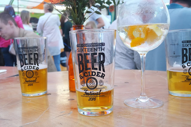 Beer Glasses at The Continental's Sixteenth Beer and Cider Festival