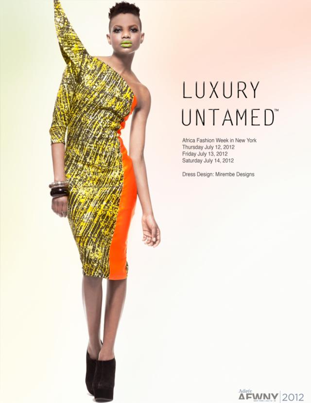 Ciaafrique African Fashion Beauty Style 2012 African Fashion Week New York Luxury Untamed