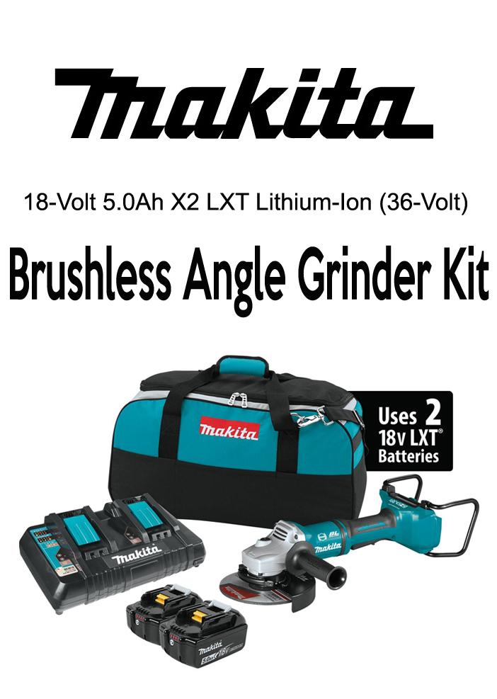 Professional grade brushless angle grinder