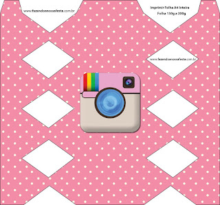 Fiesta de Instagram: Cajas para Imprimir Gratis.
