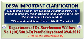 desw-clarification-on-payment-of-arrears-of-pension