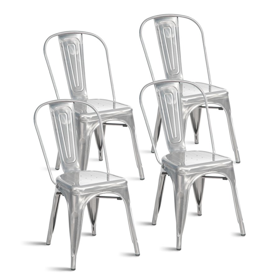 Tolix Chair Set #french #chair #cafe #metal #tolix