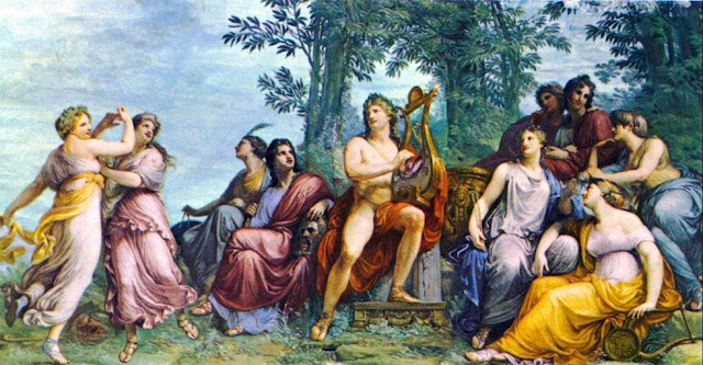Reproducción de la obra El parnaso (1811) de Andrea Appiani, Il parnaso (1811) - Galleria d'Arte Moderna, Milán