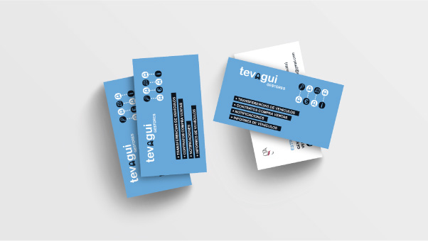 Diseño de tarjeta de visita para gestora de vehículos - Business card design work for a vehichles management business.